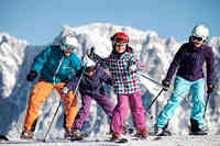 Skigebied voor beginners en experts
