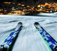 Night skiing in Tyrol